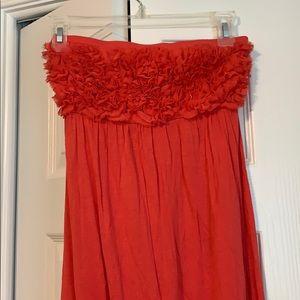 Strapless flowy maxi dress